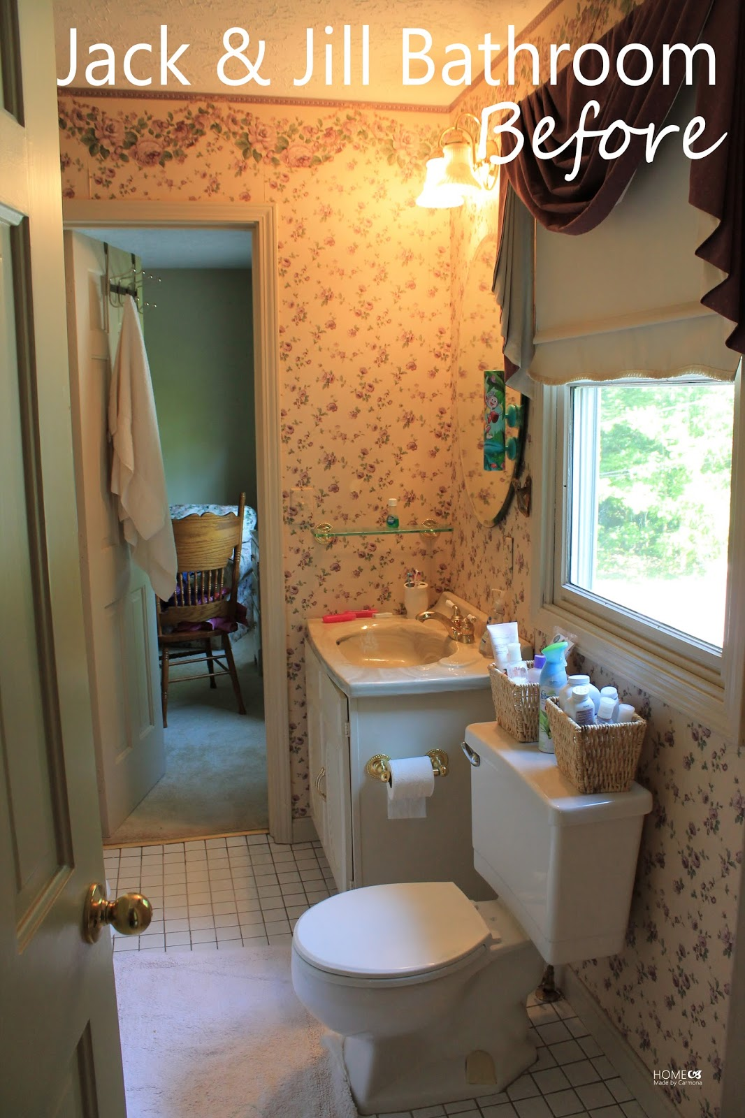 Jack jill bathroom reveal home made by carmona - What is a jack and jill bath ...