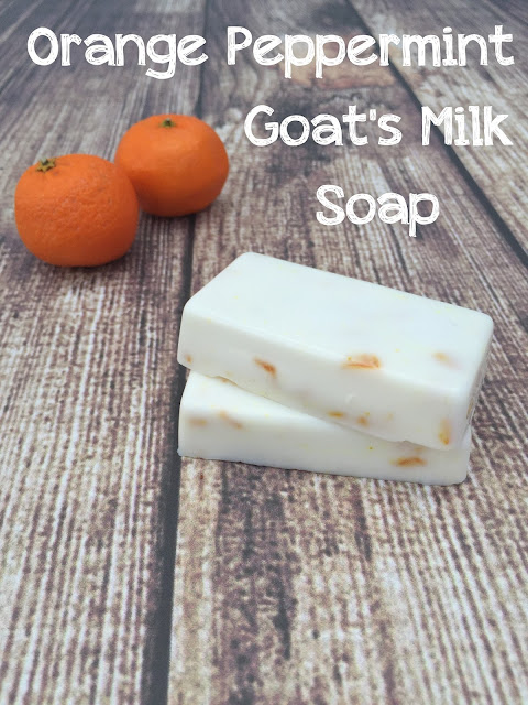 Orange Peppermint Goat's Milk Soap DIY