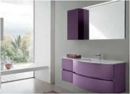 Bathroom Combination of purple and white