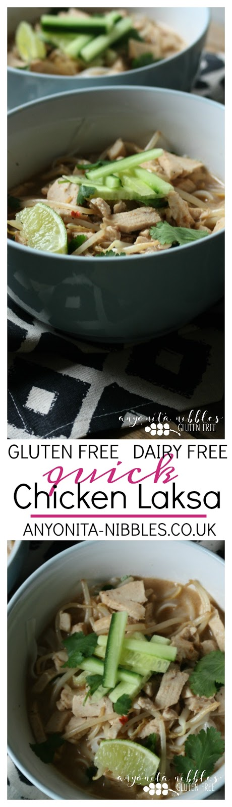 Gluten free, dairy free quick chicken laksa | Anyonita Nibbles