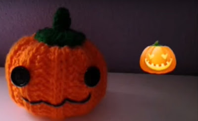 Imagen Calabaza Halloween a crochet majovel ganchillo
