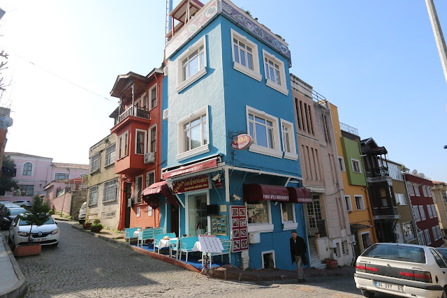 Typical homes and hotels in Sultanahmet area as they are small within the narrow streets in Istanbul, Turkey