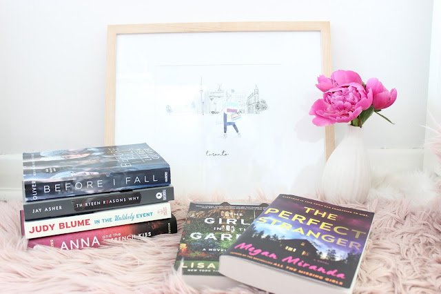 reading, book roundup, reading roundup, recently read, before I fall, thirteen reasons why, the girls in the garden, Anna and the French kiss, in the unlikely event, the perfect stranger, book review