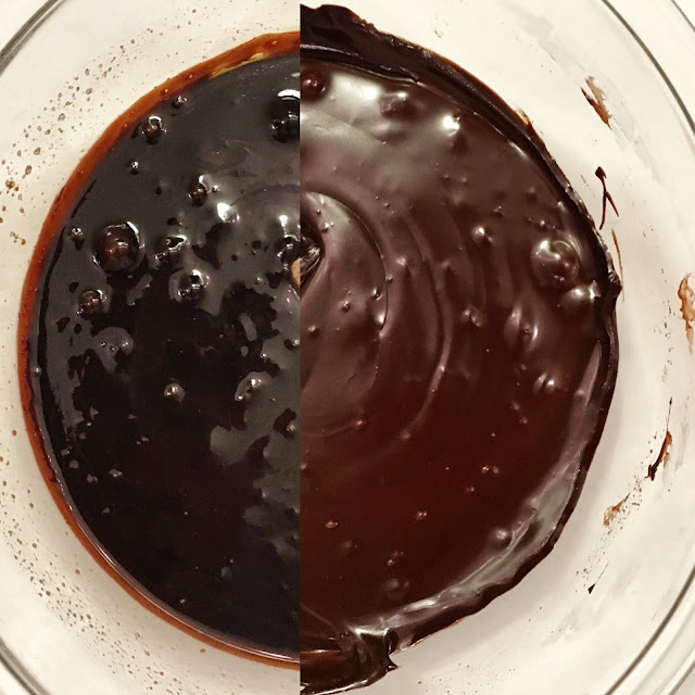Bowl of Fudge Being Beaten to the Correct Consistency