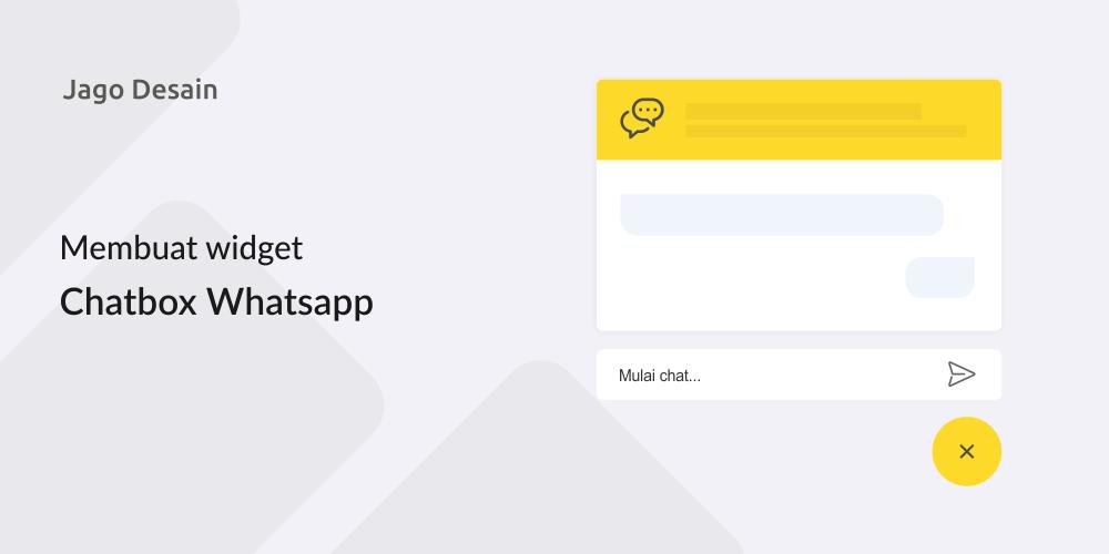 Tutorial Widget Chat Whatsapp