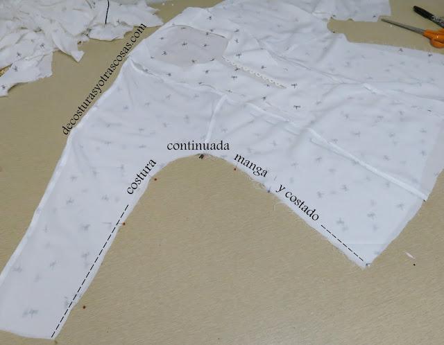 costura lateral blusa
