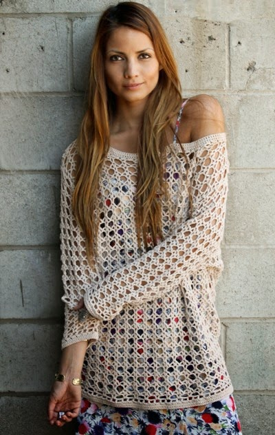 Crochet Jumper Patterns Uk : Crochet Patterns to Try: How to Crochet Your Own Heirloom Boho Sweater ...