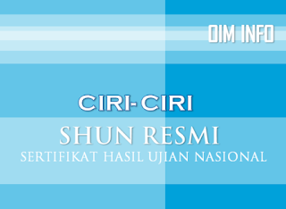 Ciri-Ciri SHUN Resmi 2014-2015
