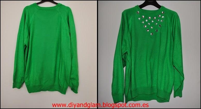 DIY refashion sweater