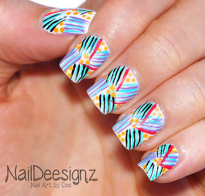 Tropical Flicks Nail Art