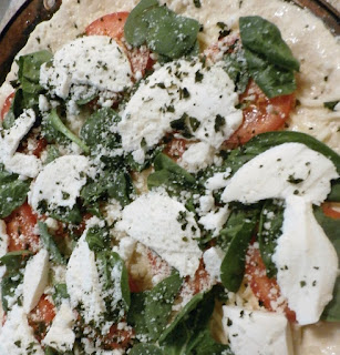 Fresh spinach pizza recipe