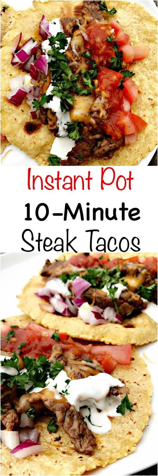 Instant Pot 10-Minute Steak Tacos (Carne Asada)