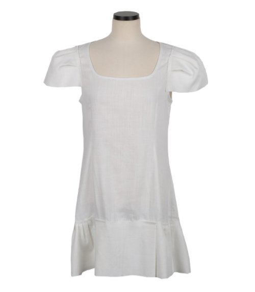 Wide Cap Sleeve Mini Dress