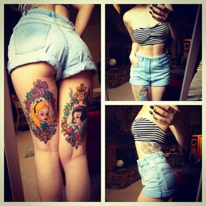 Tattoos disney inspired tattoos for the tattooed princess for Tattoo on buttocks