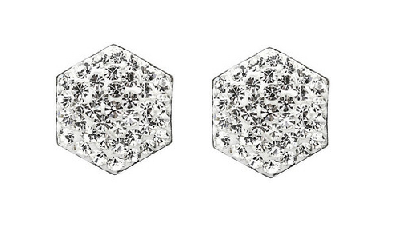 Jewellery Every Woman should own Tresor Paris Hexagon Pave studs