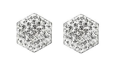 Jewellery Every Woman should own Tresor Paris Hexagon Pave studs