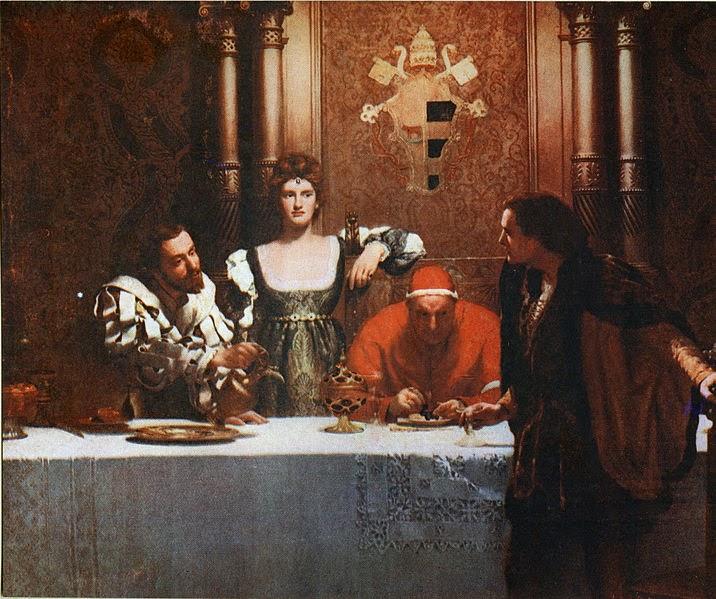 Um Copo de Vinho com César Borgia - Jhon Collier e suas pinturas belíssismas | Neoclassicismo