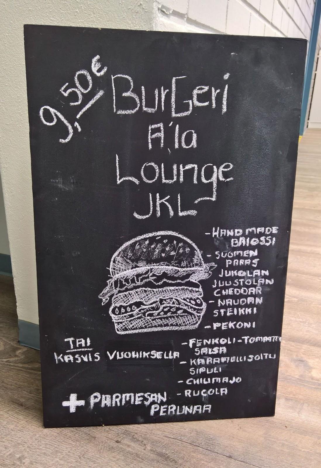 Lounge Jyväskylä hampurilaistesti mallaspulla