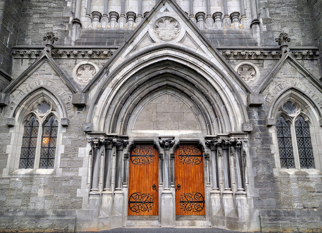 Doors to the church at St. Patrick's College in Maynooth, Ireland