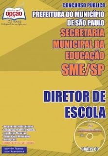 Apostila Secretário da Educação-SP, para cargos de Diretor de Escola -  SEE-SP.