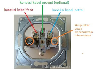 base plate stop kontak Leona tanpa cover