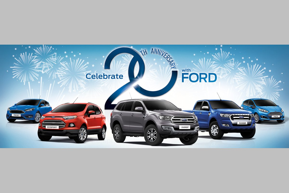Ford philippines is marking its 20th year of business operations in the philippines this year and as part of a month long celebration ford is allowing