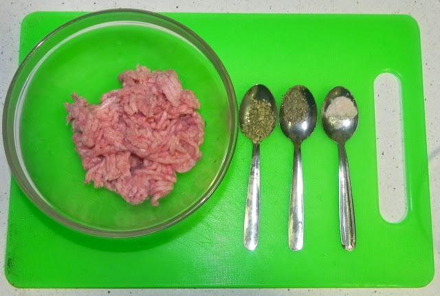 carne picada y aliño