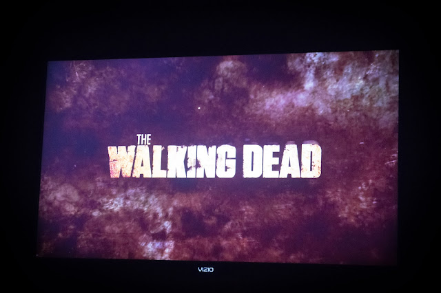 My television with the walking dead on it.