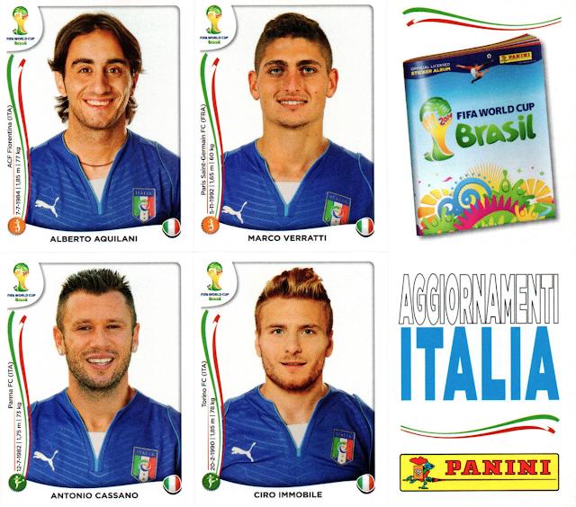 Figurine Aggiornamento Italia Brasile 2014