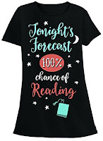 Tonights Forecast 100 Perfect Chance of Reading TShirt - Gift Ideas for Bookworms and Book Lovers Gift Guide