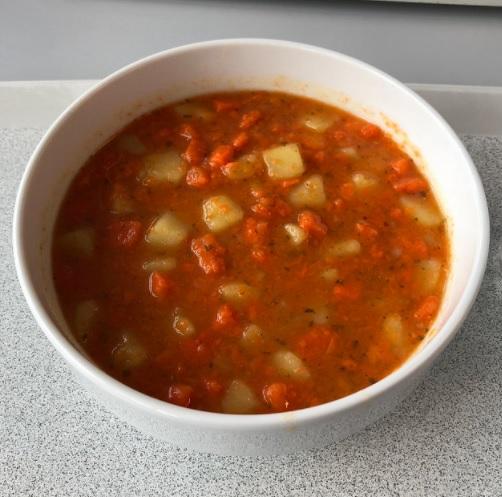Taro Root Tomato Stew Recipe