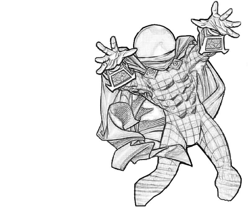 mysterio spiderman coloring pages - photo#3