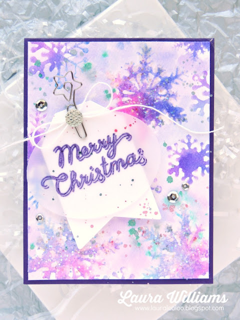 Merry Christmas {watercolor snowflakes}