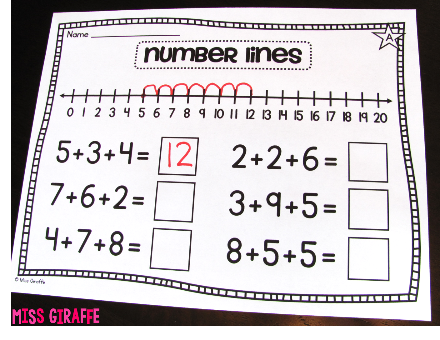 Adding 3 numbers strategies ideas!! Number lines and more!