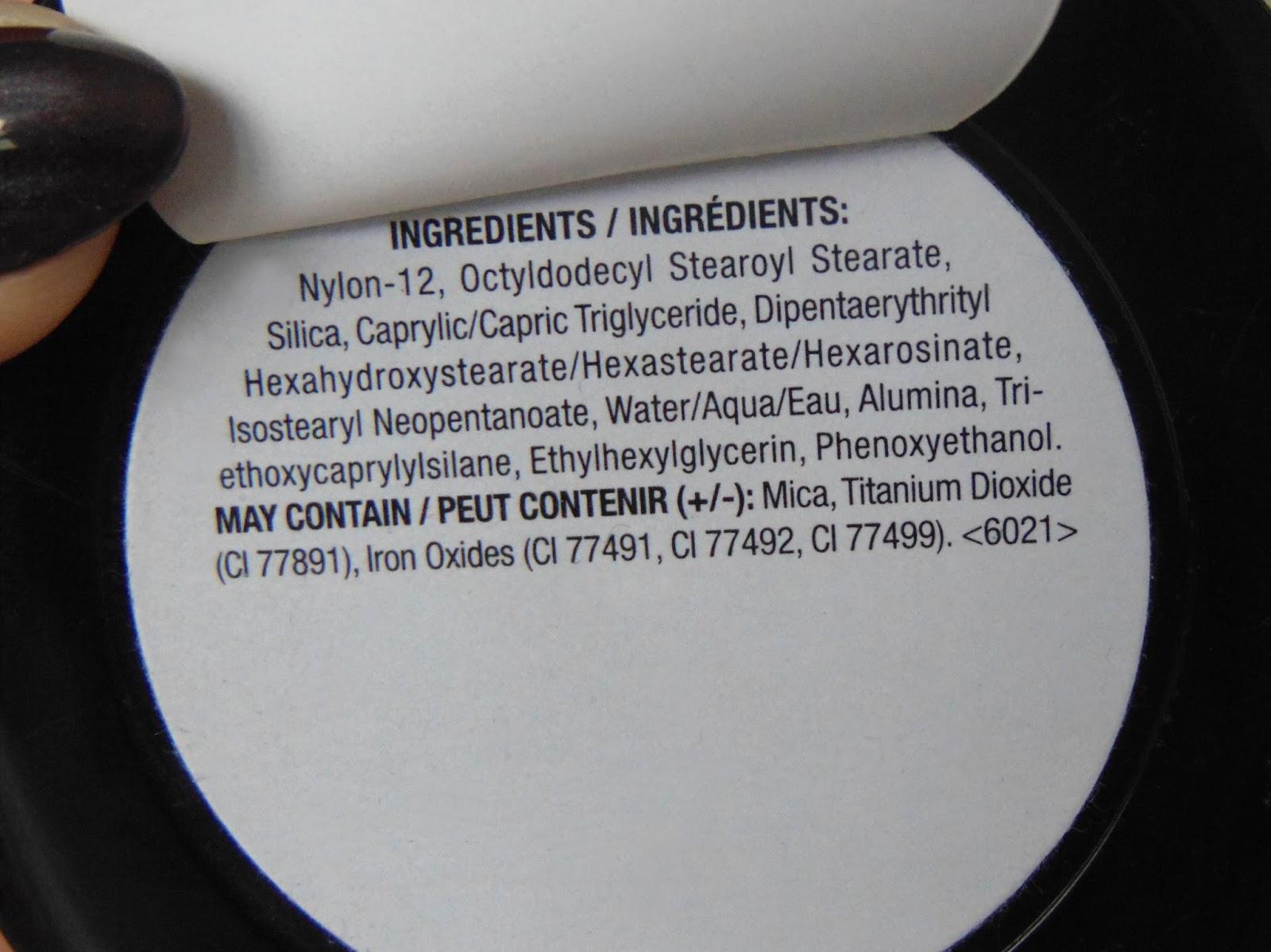 NYX #NOFILTRE finishing powder inc skład