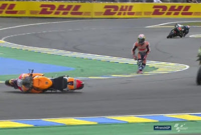 Start ke-7 di Le Mans, Rossi Salahkan Pedrosa