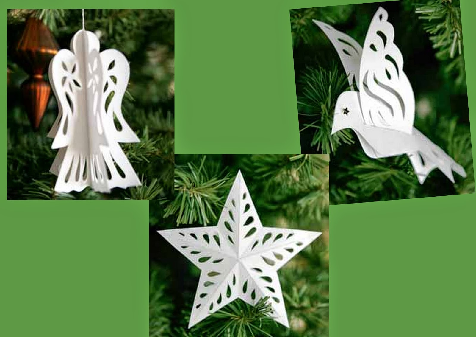 Cute Tree Decorations with Templates.