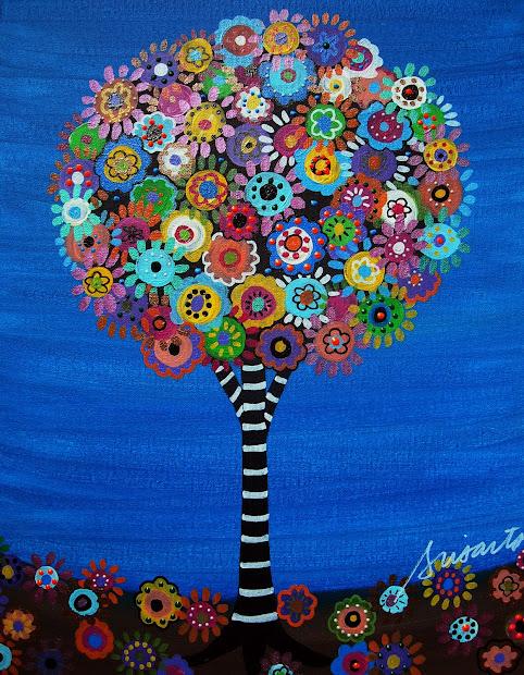 Modern Folk Artist Pristine Cartera-turkus Mexican Art Original Paintings