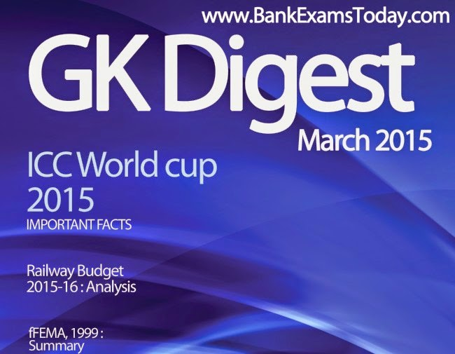 Gk For Bank Exams 2015 Pdf