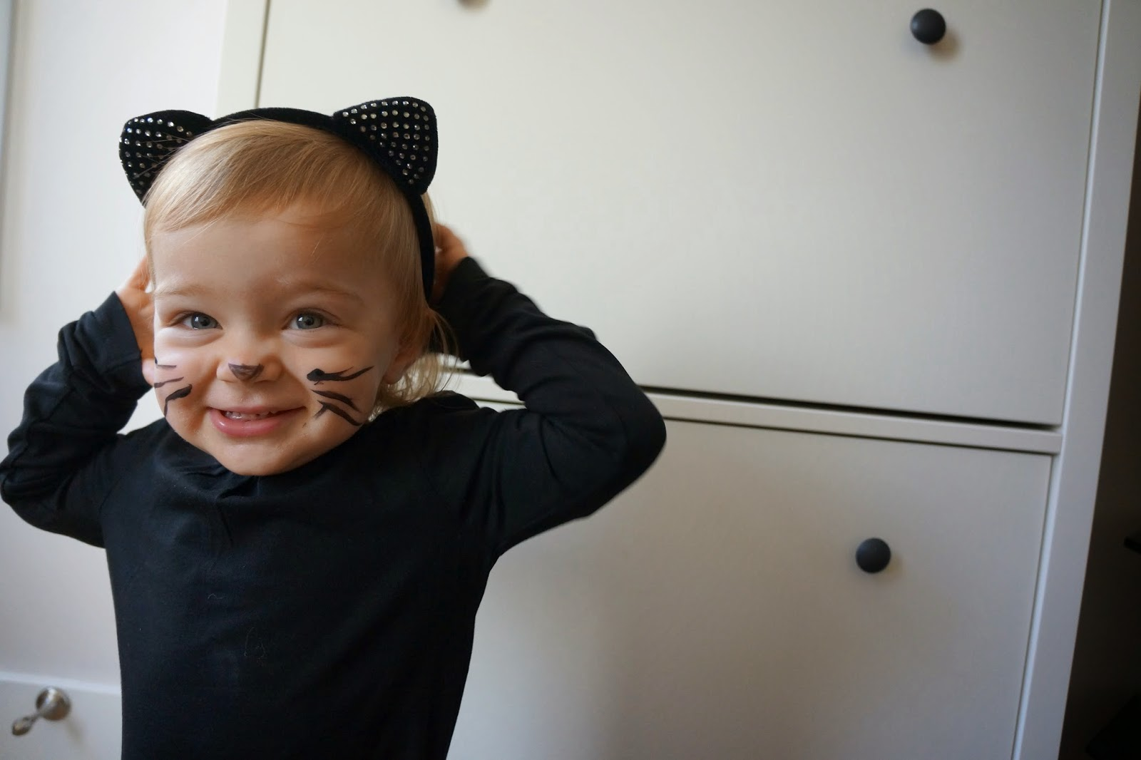 black kitty halloween costume baby