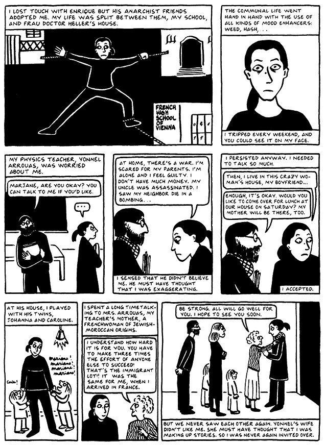 Read Chapter 7 - Hide and Seek, page 61, from Marjane Satrapi's Persepolis 2 - The Story of a Return
