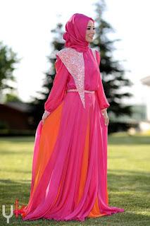 Baju Muslim Model Gaun Pesta