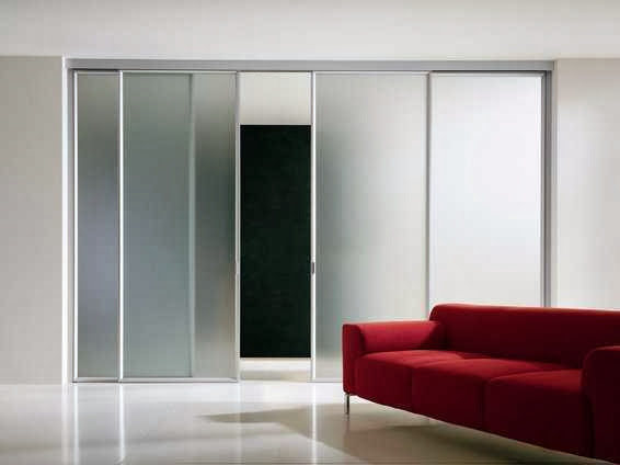 sliding door inside the wall