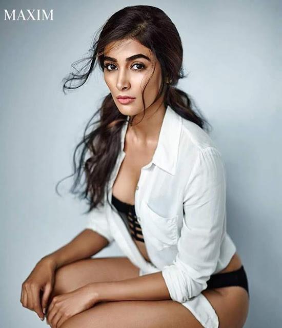 Pooja Hegde Sexy Bikini Photoshoot in MAXIM