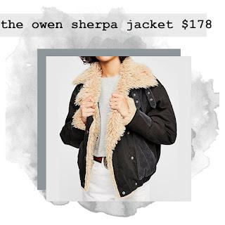 owen sherpa jacket bird bee detroit