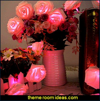 LED Rose Battery Operated String Lights Perfect Decoration for Valentine's Day, Christmas, Party and other Celebration Occasions Pink