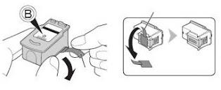 Eliminar etiqueta de cartucho Canon