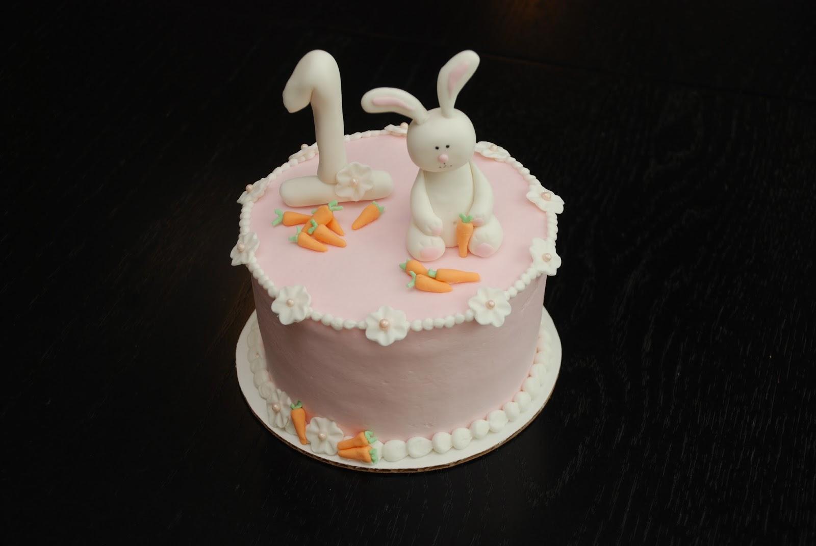 A Little Something Sweet Custom Cakes Easter Bunny Birthday Cake