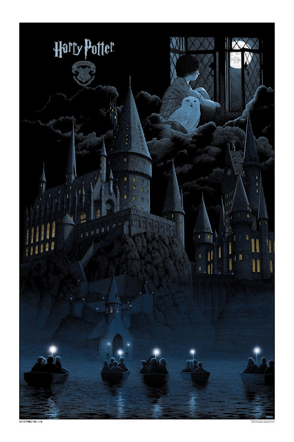 Harry Potter and the Sorcerer's Stone Standard Edition Movie Poster Screen Print by Gerhard & Dark Hall Mansion