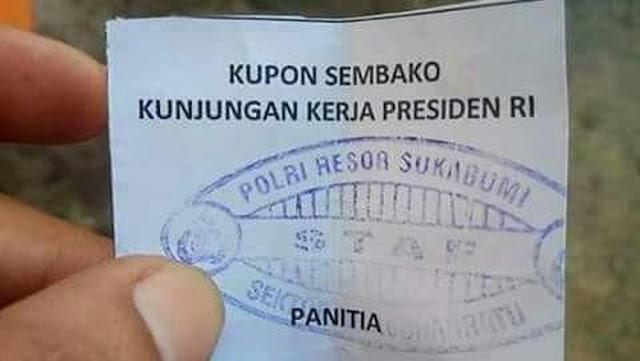 Viral Kupon Sembako Kunker Presiden, Ini Penjelasan Polres Sukabumi